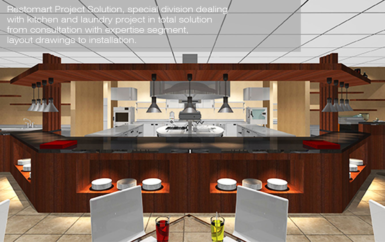 GREAT KITCHEN LAYOUT FOR PROJECT SOLUTION FROM RESTOMART